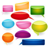 Speech bubbles of traditional and original forms. Royalty Free Stock Image