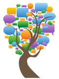 Speech bubbles tree. Isolated color speech bubbles tree on white background Royalty Free Stock Image