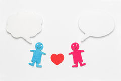 Speech bubbles with two human figures Royalty Free Stock Photography