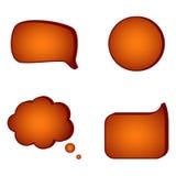 Speech bubbles. Vector illustration of speech bubbles Royalty Free Stock Image