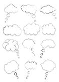 Speech Bubbles. Vector illustration of cloud design speech bubbles collection set on a white background Stock Photo