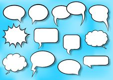 Speech bubbles. Vector illustration of a collection of comic style speech bubbles vector illustration