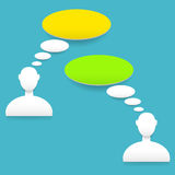 Speech bubbles. Vector illustration with color speech bubbles Royalty Free Stock Photography