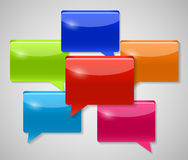 Speech Bubbles Vector Illustration Royalty Free Stock Photography