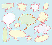 Speech bubbles, vector illustration. Royalty Free Stock Images
