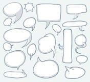Speech bubbles, vector illustration. Speech bubbles set, vector illustration Stock Images