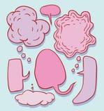 Speech bubbles, vector illustration. Stock Photos