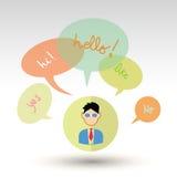 Speech bubbles, vector illustration. Royalty Free Stock Image