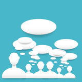Speech bubbles. Vector illustration with white speech bubbles Royalty Free Stock Images