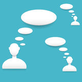Speech bubbles. Vector illustration with white speech bubbles Stock Photography