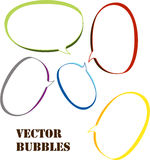 Speech bubbles vector set Royalty Free Stock Photos