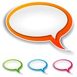 Speech bubbles on white background. Illustration of speech bubbles on white background Royalty Free Stock Photography