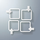 Speech Bubbles Window Arrows. Four speech bubbles with arrows on the grey background. Eps 10 vector file Royalty Free Stock Photography