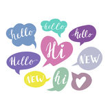 Speech Bubbles With Handwritten Words. Hand Drawn Royalty Free Stock Photo