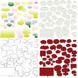 Speech bubles. Variety of empty and stylized speech bubbles for text Royalty Free Stock Images