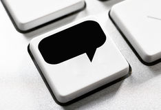 Speech button Stock Photography