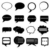 Speech chat bubble icons set Stock Photos