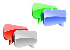 Speech or chat icon Stock Photo