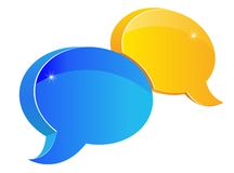 Speech or chat icon. For web design Royalty Free Stock Photography