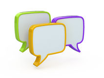 Speech or chat icon. 3d Royalty Free Stock Photos