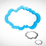 Speech cloud Stock Photo