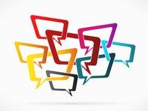 Speech cloud Stock Photo