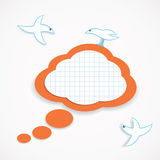 Speech cloud and birds Stock Images