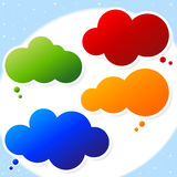 Speech cloud bubble Royalty Free Stock Images