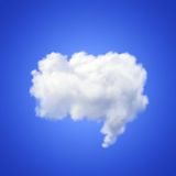 Speech cloud. Realistic vector image of speech cloud on blue background Stock Photo