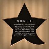 Speech cloud star. Cardboard background Stock Image