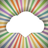Speech cloud template Stock Images