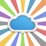 Speech cloud template Royalty Free Stock Images
