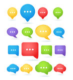 Speech cloud templates Stock Photo