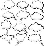 Speech clouds. Royalty Free Stock Image