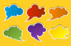 Speech color bubbles set for design Royalty Free Stock Images