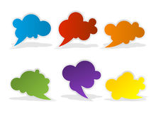 Speech color bubbles set for design Royalty Free Stock Photo