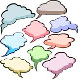 Speech color clouds. stock illustration
