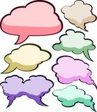 Speech color clouds. Royalty Free Stock Photos