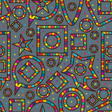 Speech colorful play seamless pattern Stock Images