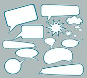 Speech or Communication or Chat Bubbles Royalty Free Stock Image