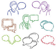 Speech and communication icons Royalty Free Stock Photo