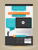 Speech concept for business website template. Stock Images
