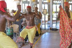 Speech by Cuban dancers royalty free stock photography