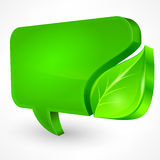 Speech green bubble on white Stock Photography