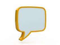 Speech icon 3d Stock Photos