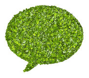 Speech icon from the green grass. Isolated Royalty Free Stock Images