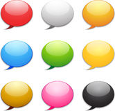 Speech Icons. Colored Speech Icon Set for Web Royalty Free Stock Photo