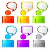 Speech icons. Royalty Free Stock Photos