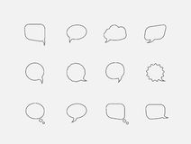 Speech line bubbles Royalty Free Stock Photos