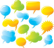 Speech and message bubbles set. Speech and message color bubbles set Stock Photography